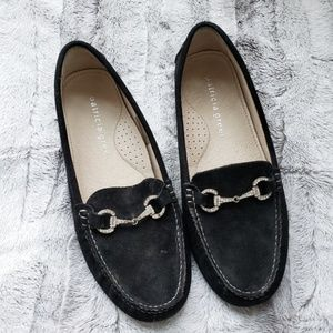 Patricia Green Black Loafers